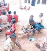 Schul- und Heimkinder, die von der Afrikanission betreut werden.